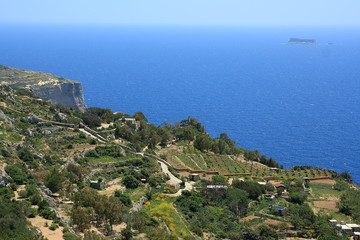 Dingli Cliffs on Malta,Mediterranean Sea, Europe