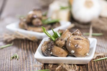Some pickled Mushrooms