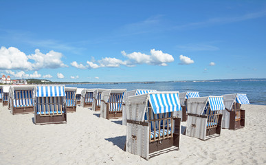 der schöne Strand im Ostseebad Binz auf Rügen