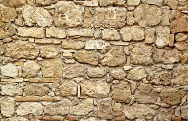 Old stone wall ter