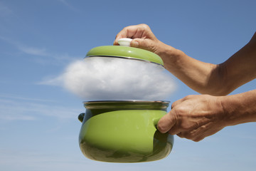 Cooking pot.