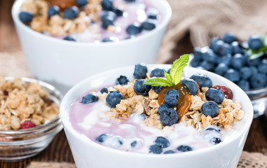 Portion of Blueberry Yogurt