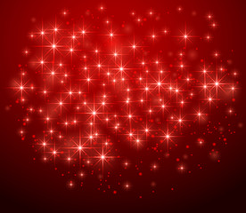 Red starry background