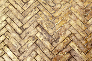 Herringbone bricks