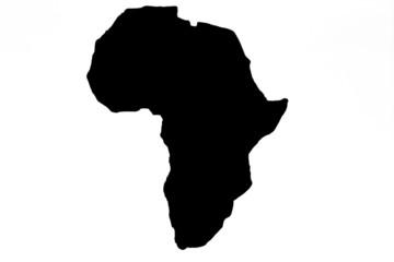 Africa sagomata in legno