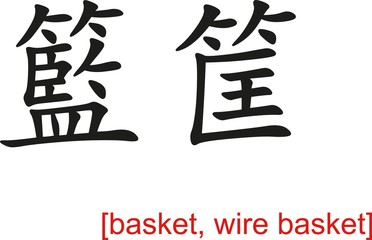 Chinese Sign for basket, wire basket