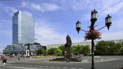 Bank Square in Warsaw, Poland