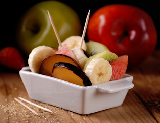 antipasto di frutta a pezzi