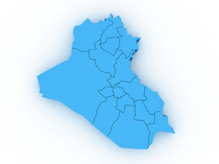 3d Iraq administrative map