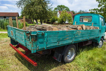 Logs on Green Camion
