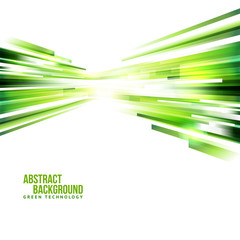 Abstract green background with centrifugal design
