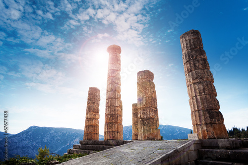 The ancient Greek temple of Apollo
