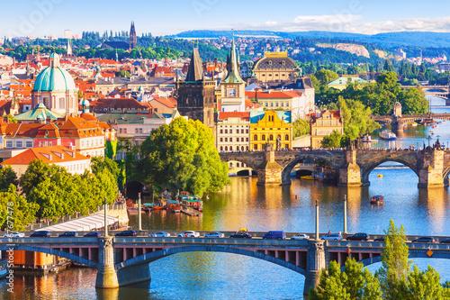 Poster Bridges of Prague, Czech Republic