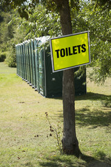 Plastic portable toilets