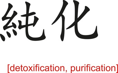 Chinese Sign for detoxification, purification