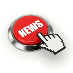 Roter News button mit metall Rand
