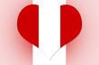 Peru Flag heart