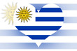 Uruguay Flag heart