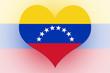 Venezuela Flag heart