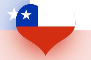 Chile Flag heart