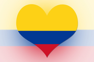 colombia Flag heart