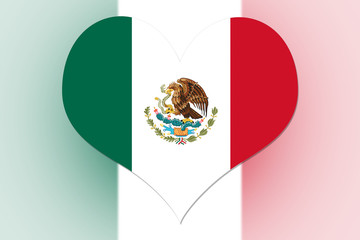 Mexico Flag heart