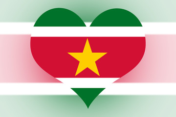 Suriname Flag heart