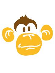 Fröhliches Glückliches Affen Gesicht Design