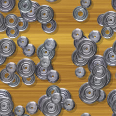 Sprockets seamless generated hires texture