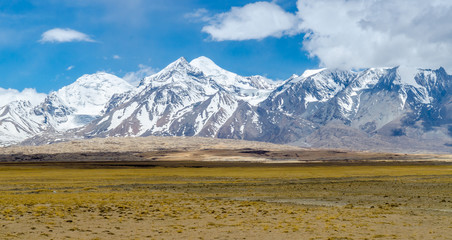 Himalaya mountain landscape. The Tibetan Plateau