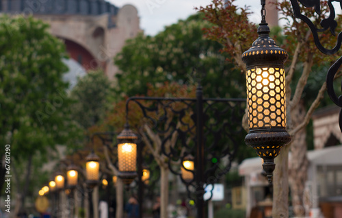 canvas print picture row of lanterns