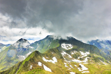 Beautiful summer landscape from Fagaras mountains