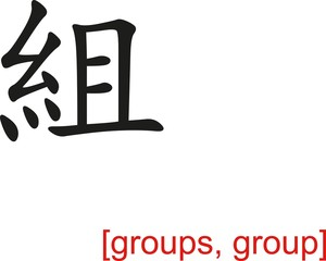 Chinese Sign for groups, group