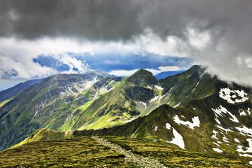 Beautiful summer landscape from Fagaras mountains