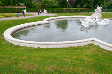 Fountain in Belvedere gardens, Vienna