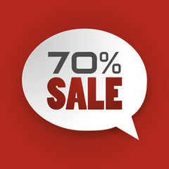 Sale 70%, Special offer, Price Discount (vector Art)