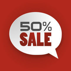 Sale 50%, Special offer, Price Discount (vector Art)