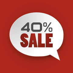 Sale 40%, Special offer, Price Discount (vector Art)