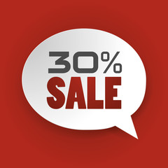 Sale 30%, Special offer, Price Discount (vector Art)