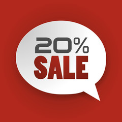 Sale 20%, Special offer, Price Discount (vector Art)