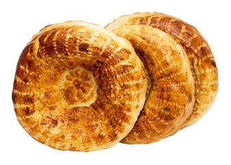 tortilla bread on a white background