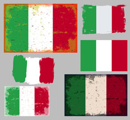 Set of Italy Flag