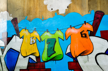 Graffiti wall, colorful background