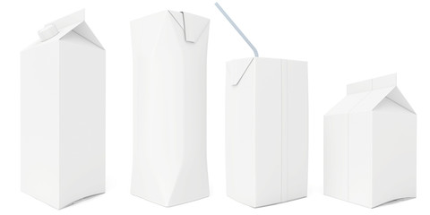 set white carton milk or juice