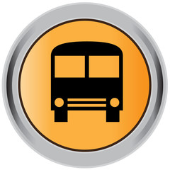 Bus button, icon, sign