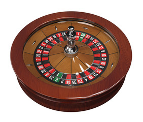 Roulette wheel with double zero