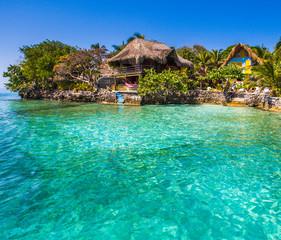 paradise sea at rosario island