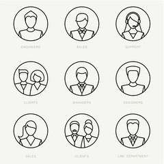 Vector company avatars