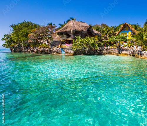 paradise sea at rosario island - 67685207