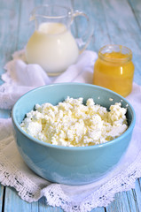 Cottage cheese on breakfast.